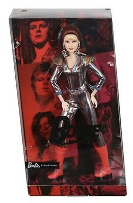 Barbie x David Bowie Metallic Ziggy Stardust Space Suit Boot Doll *PREORDER*