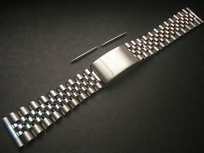 One 19Mm Steel Jubilee Band Bracelet With Straight Ends For Rolex Old Watch Case