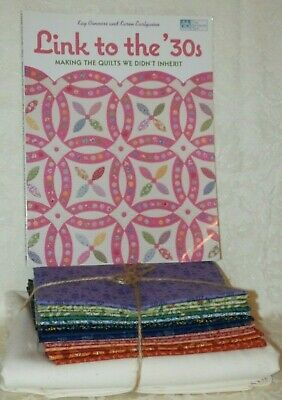 Link To The 30's QUILT PATTERN BOOK + CHAIN LINK QUILT KIT & Fabric 72x82
