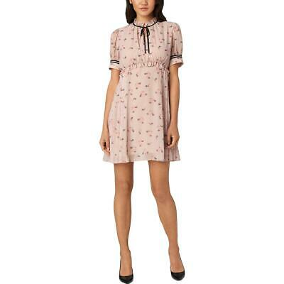 Juicy Couture Black Label Womens Pink Floral Boho Casual Dress 8 BHFO 2622