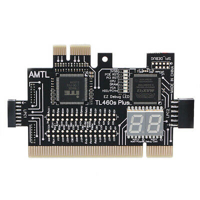 PCI LPC Motherboard Diagnostic Analyzer Card Tester Black for Laptop PC Desktop