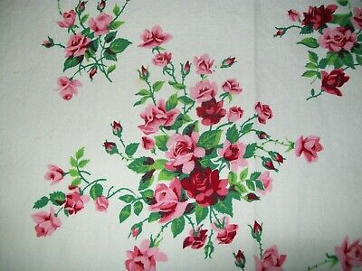 Vintage Wilendur Tablecloth  Pink & Red Roses