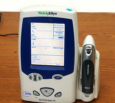 Welch Allyn Spot Vital Signs LXI  with Braun ThermoScan PRO 4000 Ear Thermometer