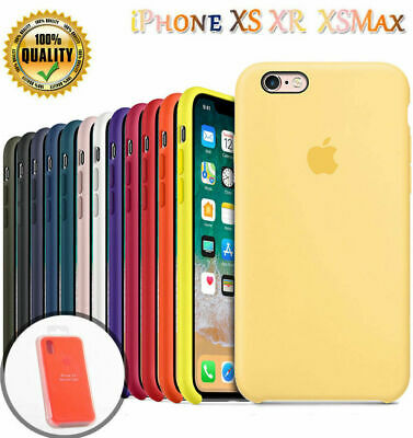 Genuine Official Shockproof Cover for iPhone XS Max XR 8 7 6s Plus Silicone Case