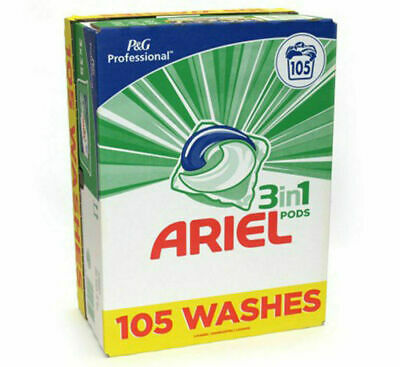 Ariel 3 in 1 Pods Biological Laundry Detergent 105 Washes