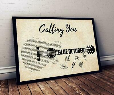 Blue October Calling You Lyrics Poster 12-48 Inches Without Frame