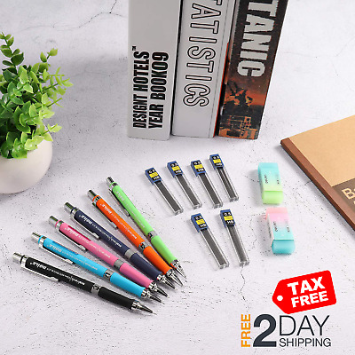 Mechanical Pencil Set, ExcelFu 6 Pieces 0.5 mm Mechanical Pencils with 12 Cases
