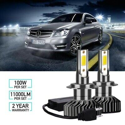 Mercedes C-Class S204 100w Super White Xenon HID Low Dip Beam Headlight Bulbs