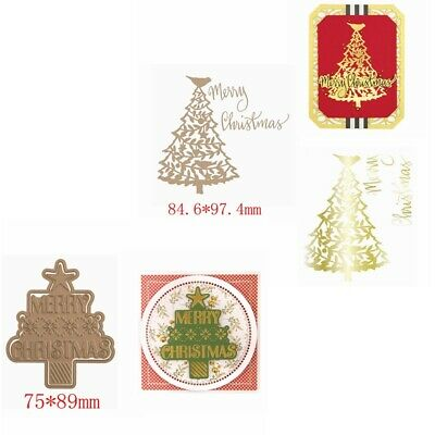 Glimmer Christmas Tree Hot Foil Plates Dies Scrapbooking Embossing Stencil Craft