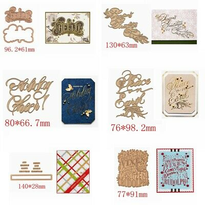 Greetings Wishes Word Metal Cutting Dies Hot foil plates Stencil Embossing Craft