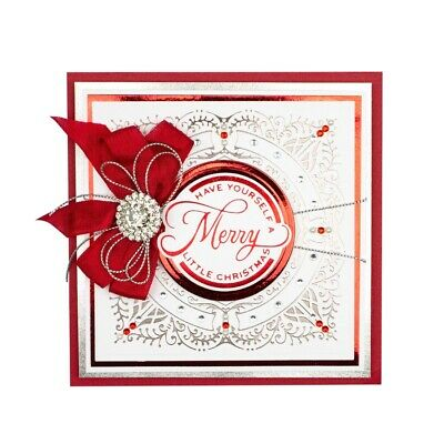 Square Frame Merry Christmas Hot Foil Plates Dies Craft DIY Stencil Scrapbooking