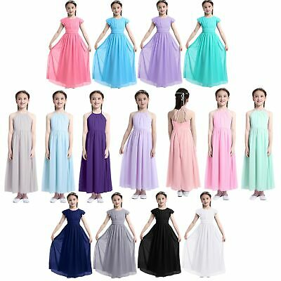 Child Girls Wedding Bridesmaid Flower Girl Dress Princess Pageant Prom Dresses