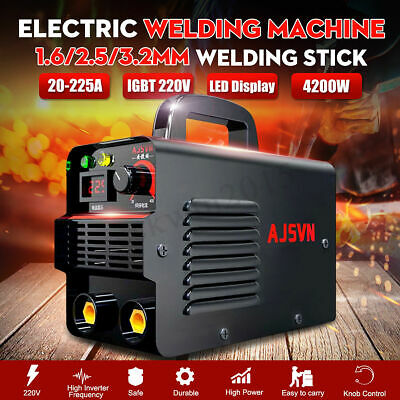 225AMP LCD Welding Inverter Machine MMA/ARC Household IGBT Stick Welder Portable