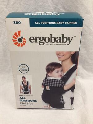 NEW Ergobaby 360 All Positions Ergonomic Baby Carrier Gingham Noir BC360GING