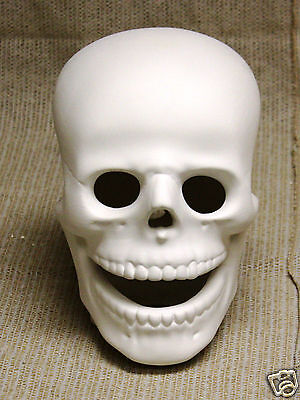Ceramic Bisque 9 inch Skull Cut Atlantic Mold 668 U-Paint Ready To Paint