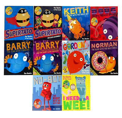 Supertato & Other Stories Collection 9 Books Set by Sue Hendra Veggies Assemble