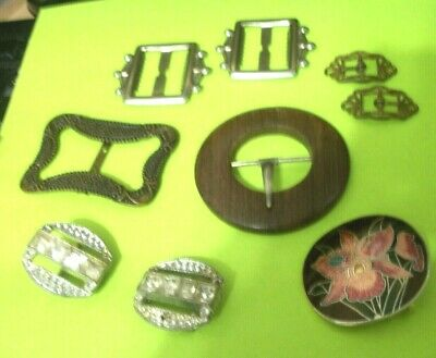 Assorted Vintage Sewing Collectible Belt Buckles