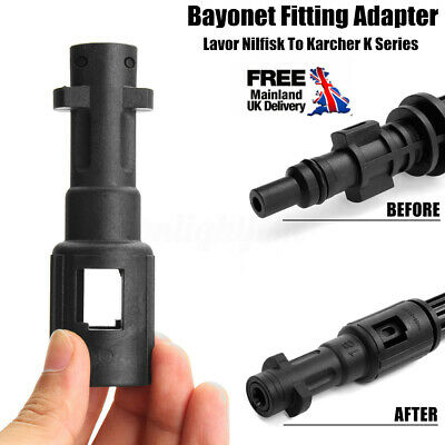 1x Bayonet Fitting Adapter For Lavor Nilfisk To Karcher K Series Pressure