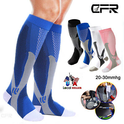Compression Socks 20-30 mmHg Best Copper Athletic Fit Shin Splints Men Women HG