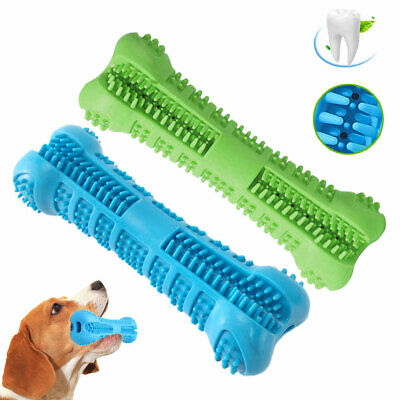 Dog Toothbrush Chew Stick Cleaning Toy Silicone Pet Brushing Oral Dental Care