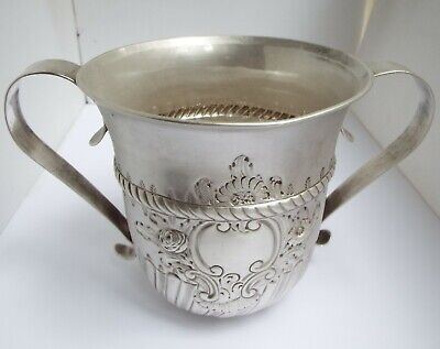 Fabulous Rare Very Large Heavy Antique Georgian 1763 Sterling Silver Porringer