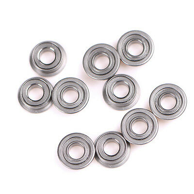 10PCS MF63zz Mini-roulements à billes à bride double en métal (3mmX6mmX2.5BGS
