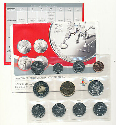 Canada 2007 Vancouver Winter Olympics Special Edition Uncirculated Coin Set