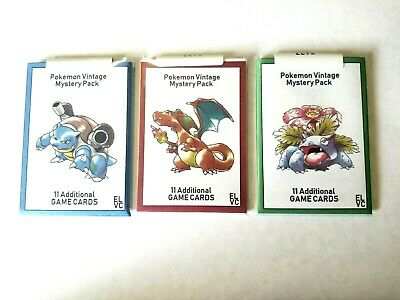 Pokemon Vintage - Mystery Pack - 11 Cards ( Wizards of the coast )