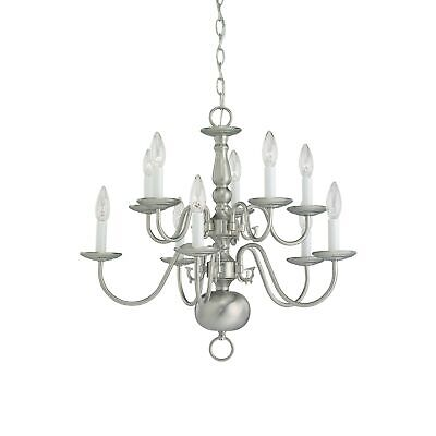 Sea Gull Traditional 10-light Brushed Nickel Chandelier