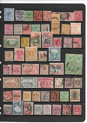 British Commonwealth GV used UNSORTED & UNCHECKED on 5 scans ( see desc)