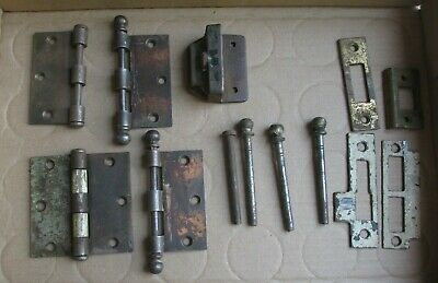 Vintage Door Hinge Parts - Pins - Hardware Pcs.  Original Salvaged Lot # H-1