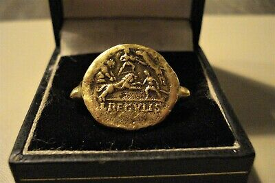 Ancient Roman Bronze 'Gladitorial' Ring--Detector Find
