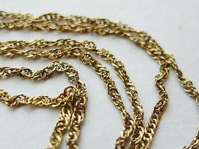 "Vintage 14k Yellow Gold Twist Chain 17.5"" Choker Necklace"