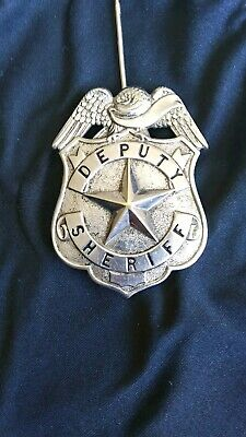 OLD WEST SILVER Plated Deputy Sheriff Dress Badge Captain Arizona
