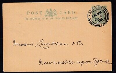 GB/ Ireland 1906 postal stationery card Belfast to Newcastle - clean item