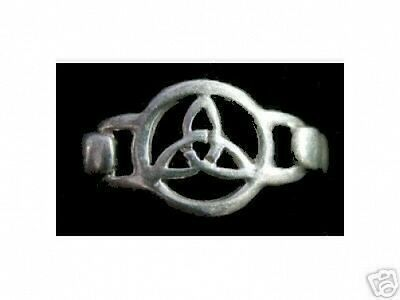 LOOK 0962 New Celtic Knot Sterling Silver Ring Pagan Jewelry