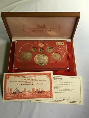 1980 Singapore 7 Coin 1 Cent-$10 Silver Proof Set Lot#B98