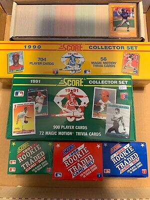 1988 Score Baseball Card Complete Set 1 660 Near Mint To Mint