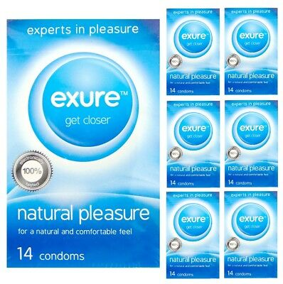 112 X Exure Naturel Pleasure Condoms Contraception Hommes Emballage Discret