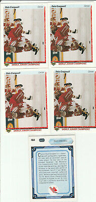 1990 1991 Ud 90/91 Upper Deck...#464 Dale Craigwell Rookie Card...lot Of 5