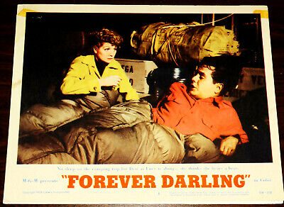 FOREVER DARLING orig 1956 Lucille BALL Desi Arnaz Lobby Crd #5 camping trip!