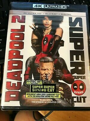Deadpool 2 (Blu-ray Disc, 2016, 2-Disc Set, 4K Ultra HD + Blu-ray) NO slipCOVER