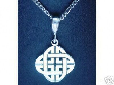 LOOK 0447 Celtic Infinity Knot Genuine Sterling Silver Charm Good Luck Wicca Jew