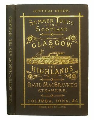 1882 SCOTLAND STEAMBOAT TRAVEL GUIDE Highlands Coast CALEDONIAN CANAL Antique