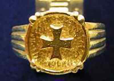 LOOK New He-man Crest Maltese Ring Silver Celtic Gold Plated
