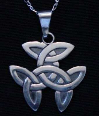 LOOK CELTIC wicca TRICEP Sterling Silver .925 PENDANT charm