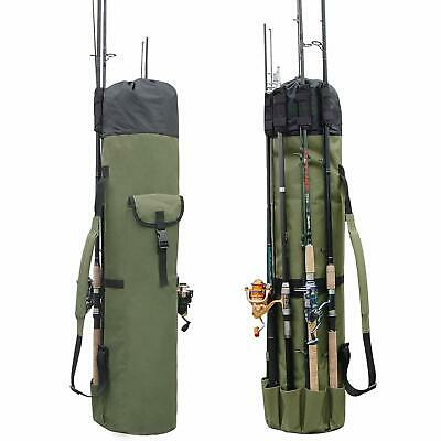 Fishing Rod Bag Pole Reel Tackle Holder Carry Case Travel Tool Storage Organizer