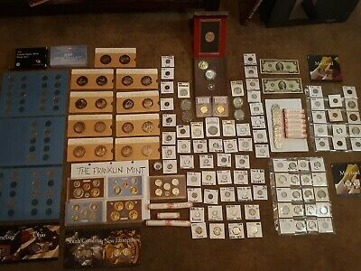 Junk Drawer Lot Morgan*Gold&Silver Coins*Proof&Mint Sets*Slabs*Much More! Read!!