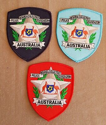 Set of 3 Police Insignia Collector Association of Australia Patches (social)