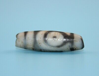 39*12 mm Antique Dzi Agate old 2 eyes Bead from Tibet **Free shipping**